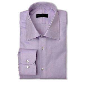 IKE BEHAR Lavender Micro Stripe Print Dress Shirt